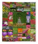 Keukenhof Gardens Collage Fleece Blanket