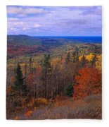 Keweenaw Peninsula And Copper Harbor Fleece Blanket
