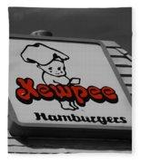 Kewpee Restaurant Fleece Blanket