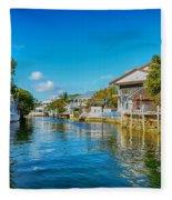 Key Largo Canal 3 Fleece Blanket