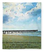 1 Kings 4 29 Pier Fleece Blanket