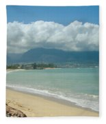 Kite Beach Kanaha Maui Hawaii Fleece Blanket