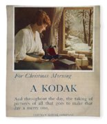 Kodak Advertisement, 1914 Fleece Blanket