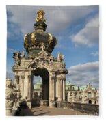 Kronentor Zwinger Dresden  Fleece Blanket