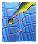 Laboratory Test Tubes In Science Research Lab Fleece Blanket