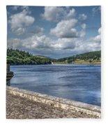 Ladybower Dam Fleece Blanket