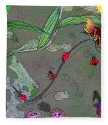 Ladybug Slide Fleece Blanket