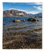 Lago Di Pusiano Fleece Blanket