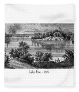 Lake Erie - 1815 Fleece Blanket
