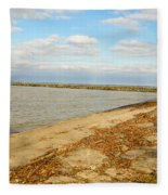 Lake Ontario Shoreline Fleece Blanket