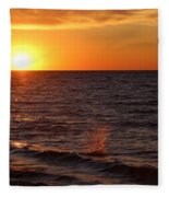 Lake Ontario Sunset Fleece Blanket