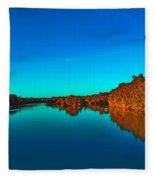 Lake Reflections Fleece Blanket