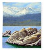 Lake Tahoe Sand Harbor Fleece Blanket