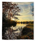 Lake Wausau Sunset Fleece Blanket
