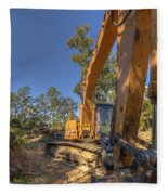 Cat Excavator  Fleece Blanket