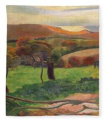 Landscape From Bretagne Fleece Blanket