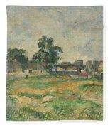 Landscape Near Paris Fleece Blanket