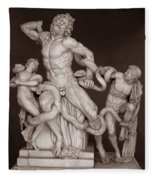 Laocoon And His Sons Fleece Blanket