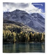 Larch Pine Reflections Fleece Blanket