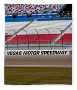 Las Vegas Speedway Grandstands Fleece Blanket