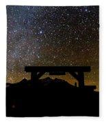 Last Dollar Gate And Milky Way Starry Fleece Blanket
