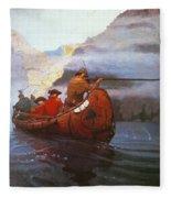 Last Of The Mohicans, 1919 Fleece Blanket