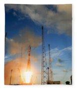 Launch Of Soyuz Vs07 2014 Fleece Blanket