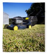 Lawn Mower Fleece Blanket