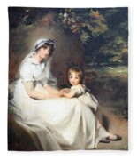 Lawrence's Lady Mary Templetown And Her Eldest Son Fleece Blanket