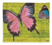 Le Papillon 2 Fleece Blanket