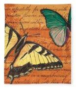 Le Papillon 3 Fleece Blanket