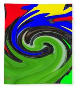 Leaf And Color Abstract Fleece Blanket