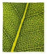 Leafy Details Fleece Blanket