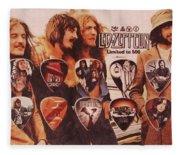 Led Zeppelin Art Fleece Blanket