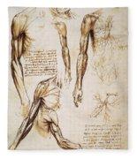 Leonardo: Anatomy, C1510 Fleece Blanket