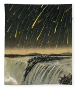 Leonid Meteor Shower Of 1833 Fleece Blanket