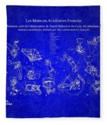 Les Moteurs Auxiliaries Francais Fleece Blanket