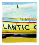 Lifeboat Atlantic City New Jersey Fleece Blanket