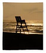 Lifeguard Chair In The Morning Fleece Blanket