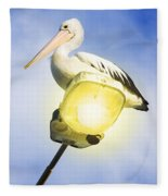 Light Pelican Fleece Blanket