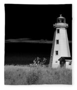 Lighthouse At North Cape On Pei Fleece Blanket