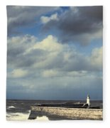 Lighthouse At Whitehaven Fleece Blanket