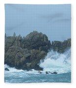 Lighthouse On An Island, Creach Fleece Blanket