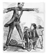 Lincoln Cartoon, 1865 Fleece Blanket