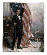 Lincoln Independence Hall Fleece Blanket