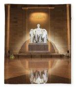Washington Dc - Lincoln Memorial Fleece Blanket