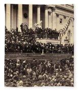 Lincoln's Inauguration, 1865 Fleece Blanket