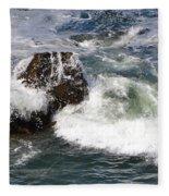 Linda Mar Beach Surf Fleece Blanket