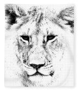 Lion Portrait Fleece Blanket