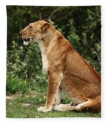 Lioness On The Masai Mara  Fleece Blanket